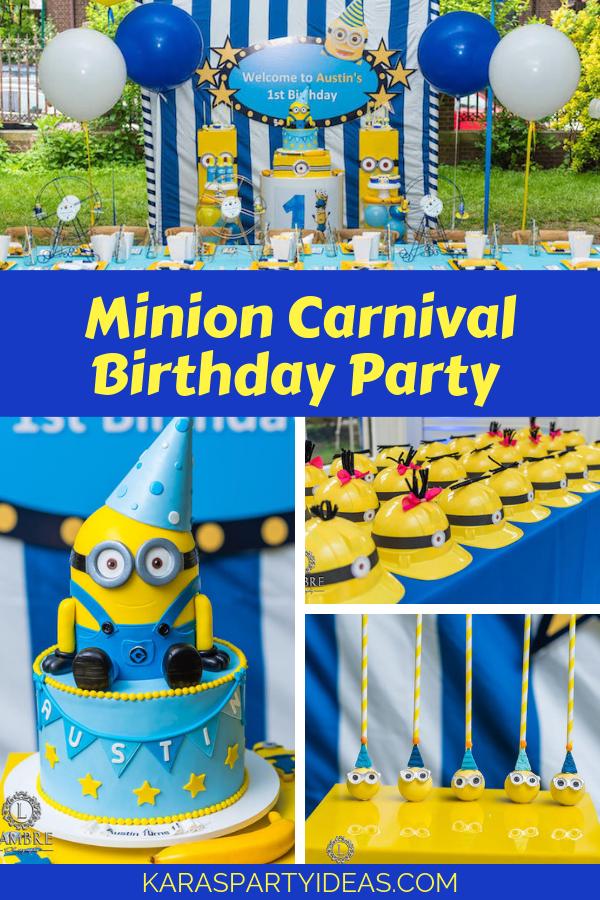 Minion Carnival Birthday Party via Kara's Party Ideas - KarasPartyIdeas.com