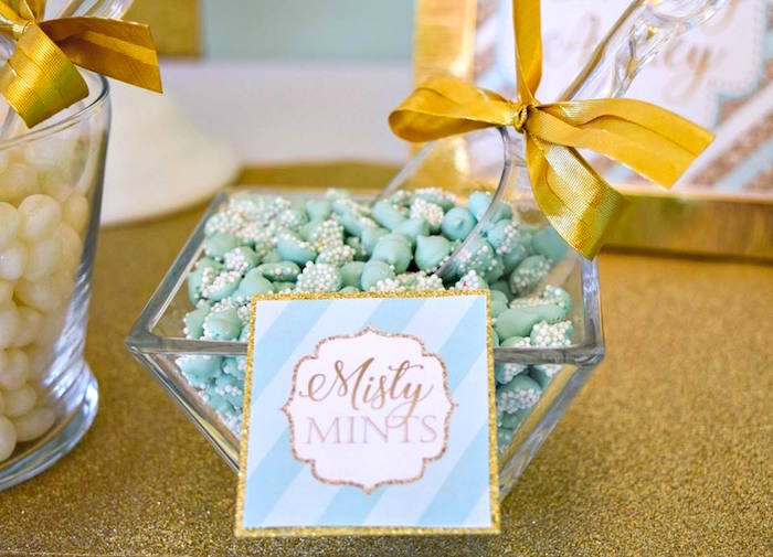 Misty Mints from a Mint & Gold Party on Kara's Party Ideas | KarasPartyIdeas.com (17)