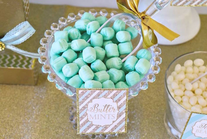 Butter Mints from a Mint & Gold Party on Kara's Party Ideas | KarasPartyIdeas.com (15)