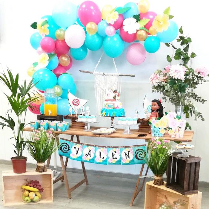 Moana Themed Tropical Birthday Party on Kara's Party Ideas | KarasPartyIdeas.com (5)