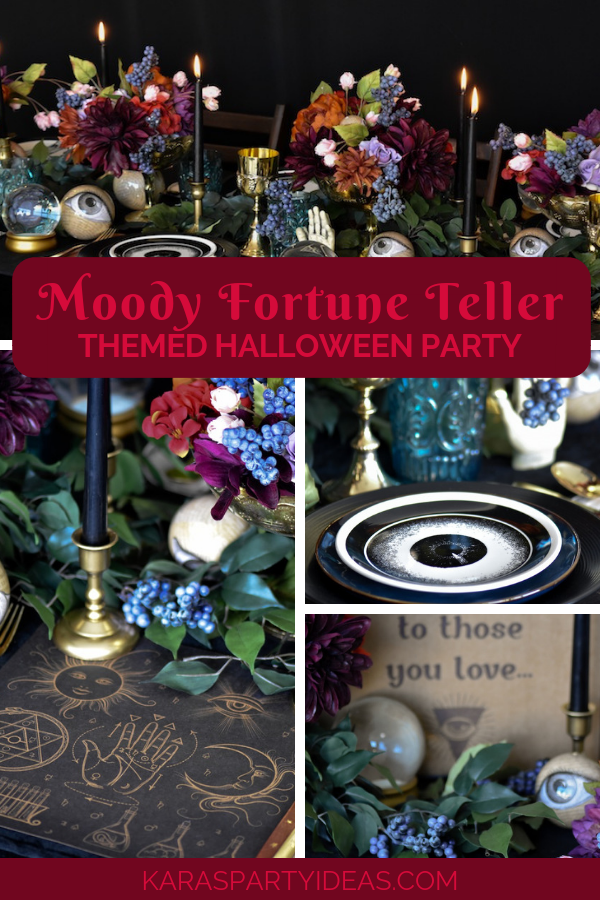 Moody Fortune Teller Themed Halloween Party via Kara's Party Ideas - KarasPartyIdeas.com