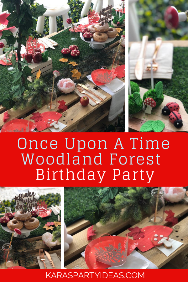 Once Upon A Time Woodland Forest Birthday Party via Kara's Party Ideas - KarasPartyIdeas.com