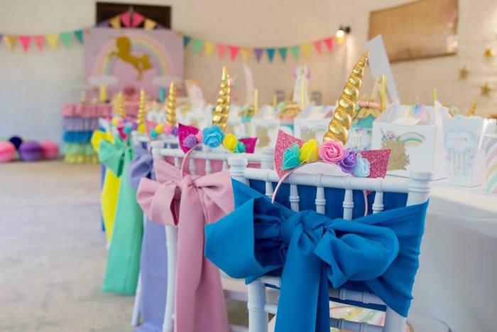 Unicorn Party Table from a Pastel Rainbow Unicorn Birthday Party on Kara's Party Ideas | KarasPartyIdeas.com (21)