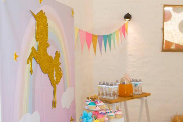 Unicorn Party Decor from a Pastel Rainbow Unicorn Birthday Party on Kara's Party Ideas | KarasPartyIdeas.com (20)