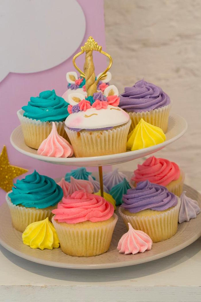 Cupcakes from a Pastel Rainbow Unicorn Birthday Party on Kara's Party Ideas | KarasPartyIdeas.com (15)