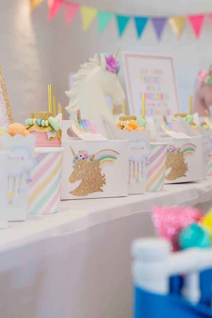 Unicorn Table Settings from a Pastel Rainbow Unicorn Birthday Party on Kara's Party Ideas | KarasPartyIdeas.com (12)
