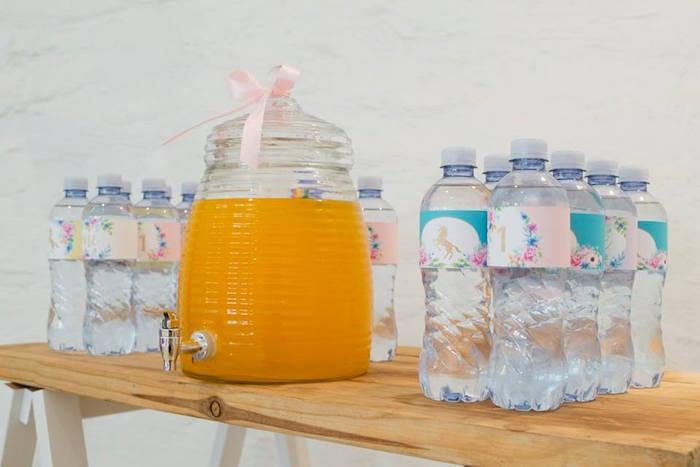 Beverage Dispenser + Table from a Pastel Rainbow Unicorn Birthday Party on Kara's Party Ideas | KarasPartyIdeas.com (5)