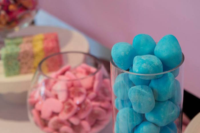 Candy Buffet from a Pastel Rainbow Unicorn Birthday Party on Kara's Party Ideas | KarasPartyIdeas.com (27)