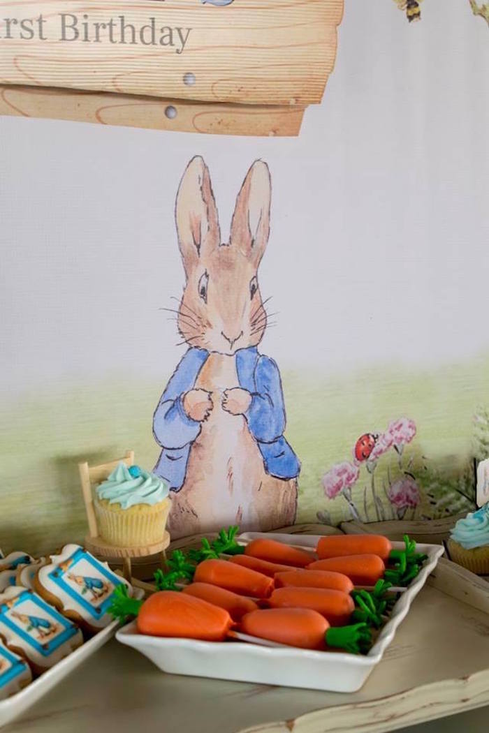 Peter Rabbit Backdrop from a Peter Rabbit Birthday Party on Kara's Party Ideas | KarasPartyIdeas.com (30)