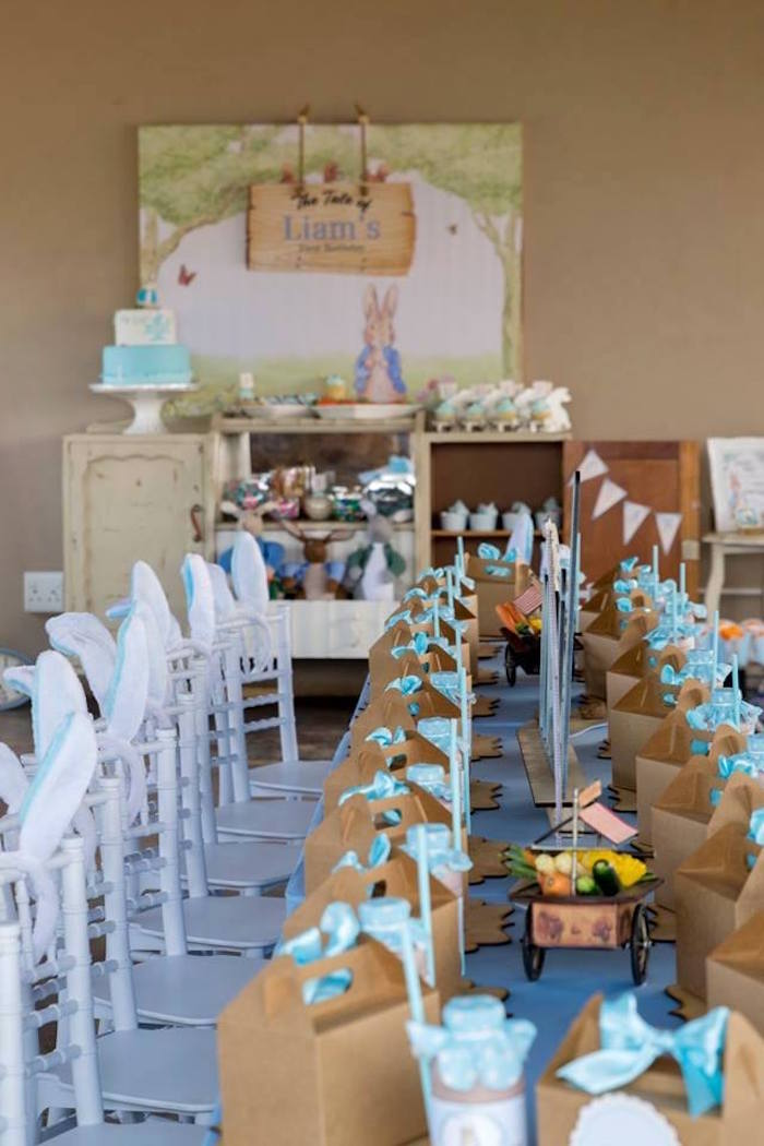 Peter Rabbit Party Tables from a Peter Rabbit Birthday Party on Kara's Party Ideas | KarasPartyIdeas.com (21)