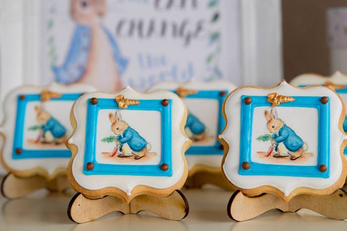 Peter Rabbit Cookies from a Peter Rabbit Birthday Party on Kara's Party Ideas | KarasPartyIdeas.com (19)