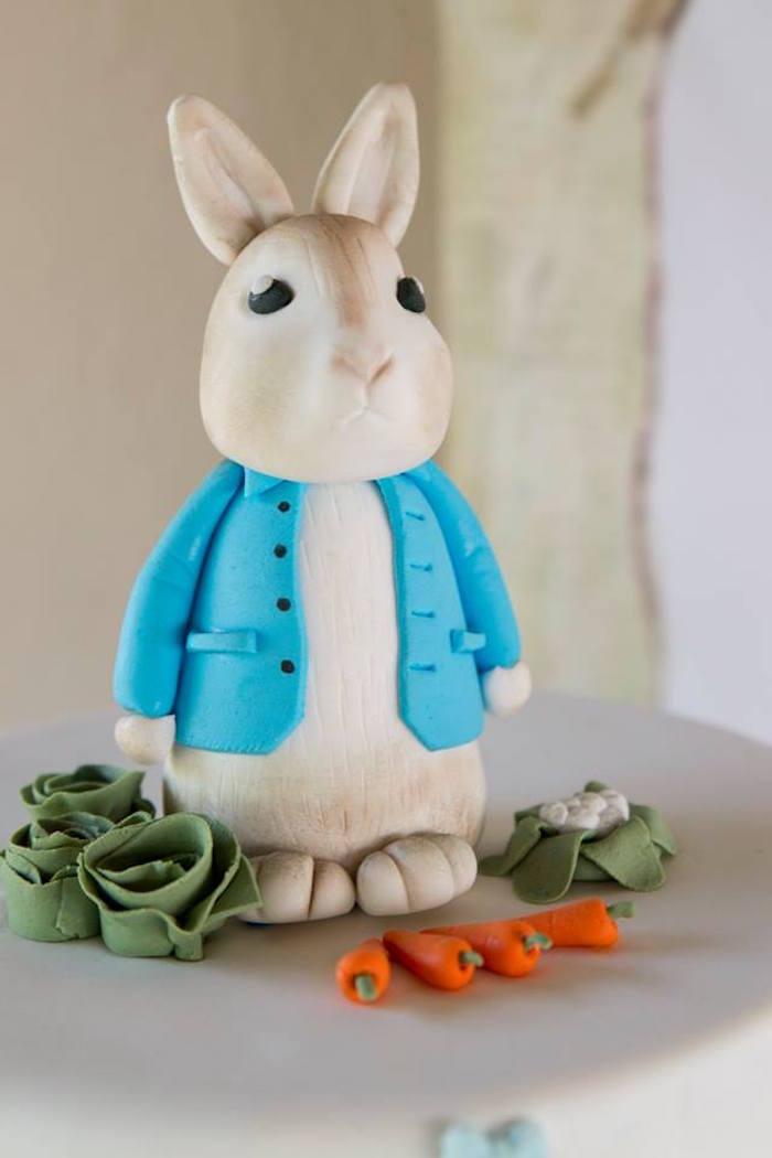 Peter Rabbit Cake Topper from a Peter Rabbit Birthday Party on Kara's Party Ideas | KarasPartyIdeas.com (11)
