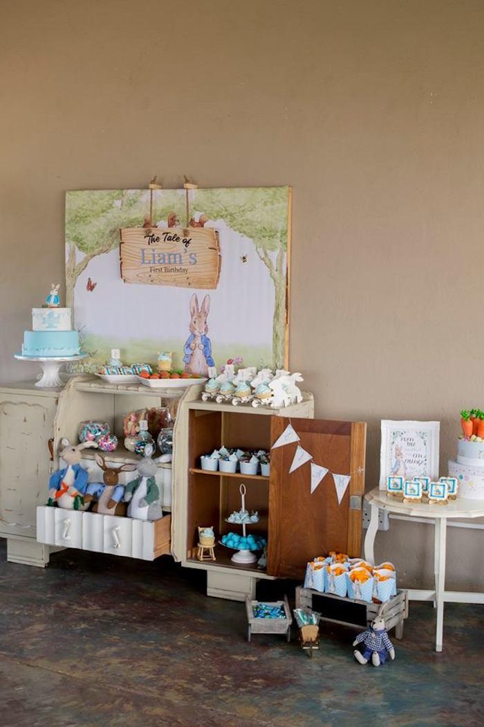 Peter Rabbit Birthday Party on Kara's Party Ideas | KarasPartyIdeas.com (8)