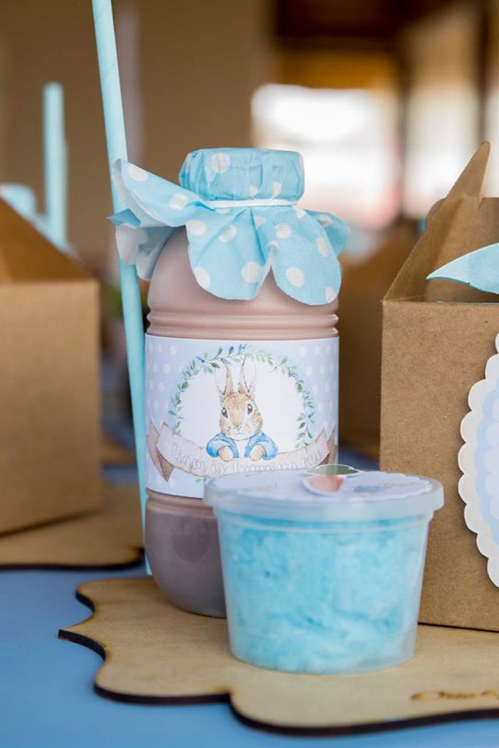 Peter Rabbit Drink Label + Bottle from a Peter Rabbit Birthday Party on Kara's Party Ideas | KarasPartyIdeas.com (6)