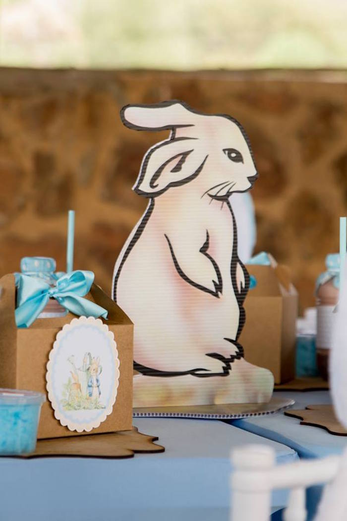 Bunny Table Centerpiece from a Peter Rabbit Birthday Party on Kara's Party Ideas | KarasPartyIdeas.com (27)