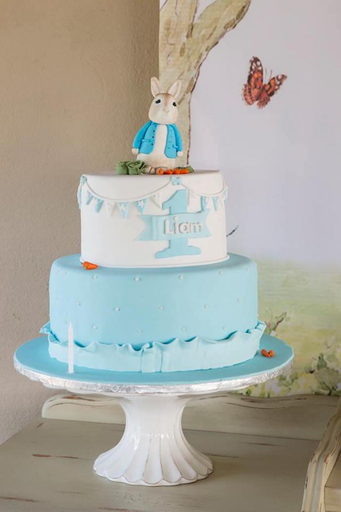 Peter Rabbit Cake from a Peter Rabbit Birthday Party on Kara's Party Ideas | KarasPartyIdeas.com (26)