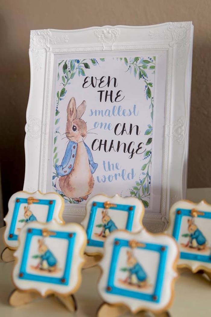 Peter Rabbit Signage from a Peter Rabbit Birthday Party on Kara's Party Ideas | KarasPartyIdeas.com (25)