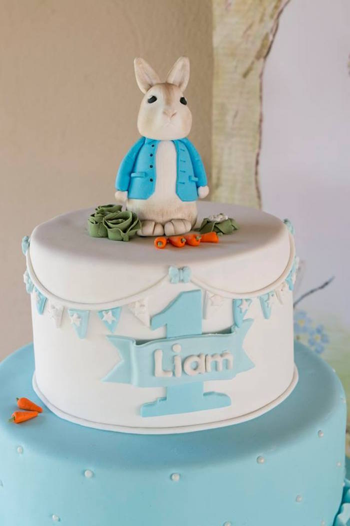 Peter Rabbit Cake from a Peter Rabbit Birthday Party on Kara's Party Ideas | KarasPartyIdeas.com (24)