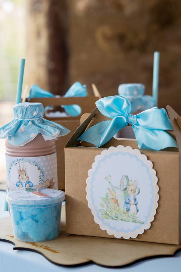 Peter Rabbit Lunchbox Table Setting from a Peter Rabbit Birthday Party on Kara's Party Ideas | KarasPartyIdeas.com (22)