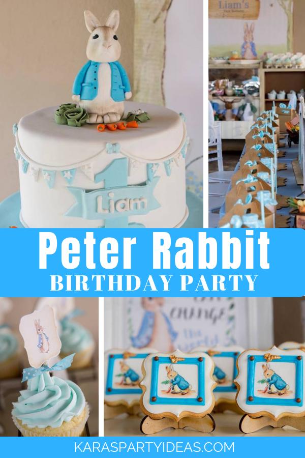 Peter Rabbit Birthday Party via Kara's Party Ideas - KarasPartyIdeas.com