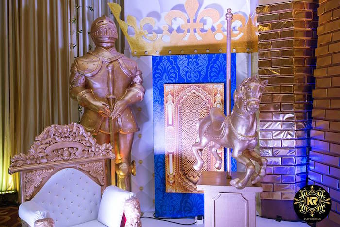 Royal Throne from a Royal Prince Birthday Party on Kara's Party Ideas | KarasPartyIdeas.com (17)