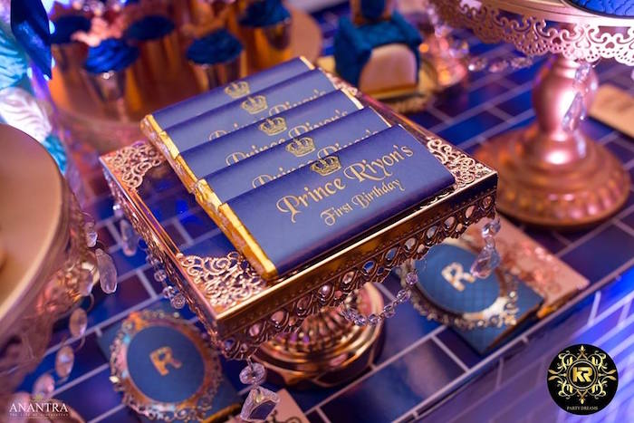 Royal Prince Candy Bars from a Royal Prince Birthday Party on Kara's Party Ideas | KarasPartyIdeas.com (13)