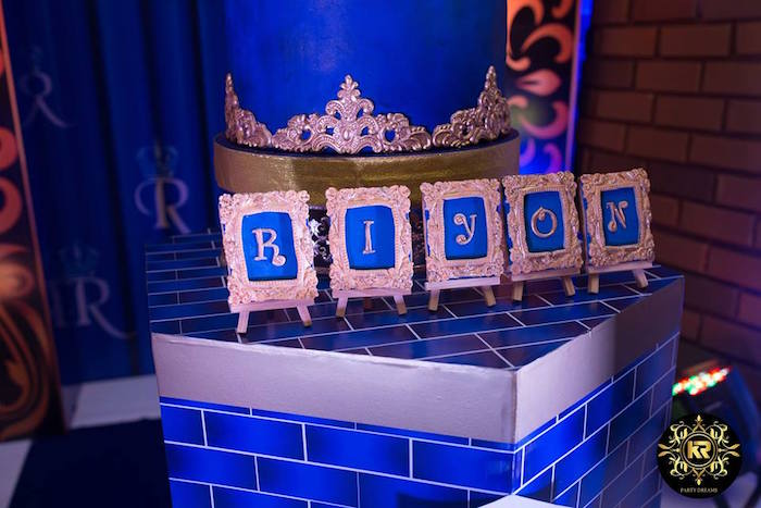 Framed Name Cookies from a Royal Prince Birthday Party on Kara's Party Ideas | KarasPartyIdeas.com (30)