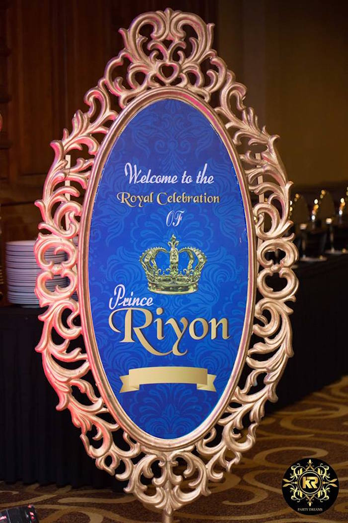 Royal Celebration Welcome Sign from a Royal Prince Birthday Party on Kara's Party Ideas | KarasPartyIdeas.com (27)