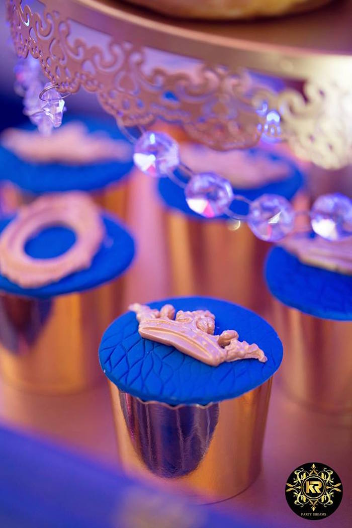 Royal Cupcakes from a Royal Prince Birthday Party on Kara's Party Ideas | KarasPartyIdeas.com (26)