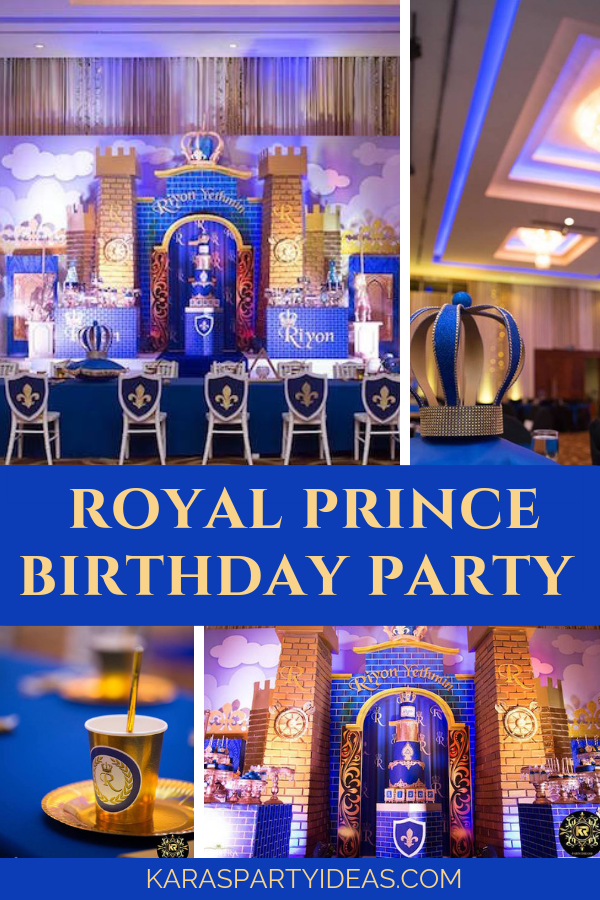 Royal Prince Birthday Party via Kara's Party Ideas - KarasPartyIdeas.com