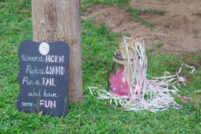 Unicorn Wands from a Rustic Unicorn Birthday Party on Kara's Party Ideas | KarasPartyIdeas.com (13)