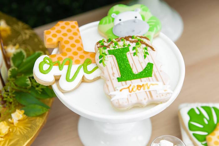 Safari Cookies from a Safari Wild ONE Birthday Party on Kara's Party Ideas | KarasPartyIdeas.com (42)