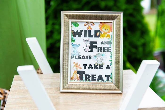 Wild & Free Safari Party Print from a Safari Wild ONE Birthday Party on Kara's Party Ideas | KarasPartyIdeas.com (12)