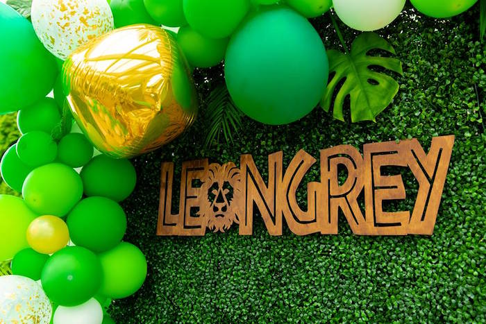 Wooden Sign from a Safari Wild ONE Birthday Party on Kara's Party Ideas | KarasPartyIdeas.com (5)
