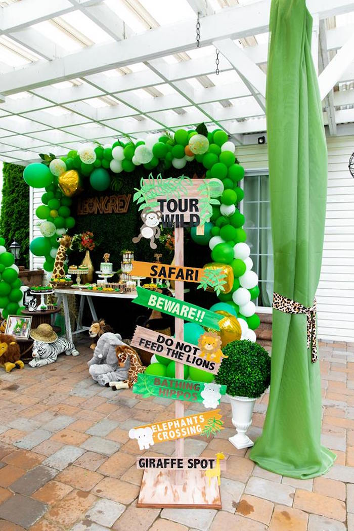 Safari Wild ONE Birthday Party on Kara's Party Ideas | KarasPartyIdeas.com (3)