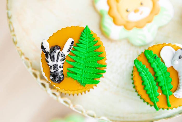 Fondant Zebra Cupcake Topper from a Safari Wild ONE Birthday Party on Kara's Party Ideas | KarasPartyIdeas.com (36)