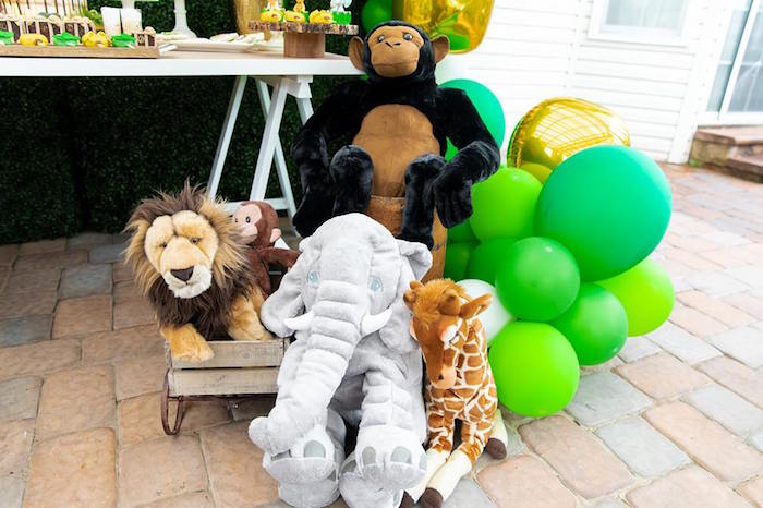 Plush Safari Animal Decor from a Safari Wild ONE Birthday Party on Kara's Party Ideas | KarasPartyIdeas.com (35)