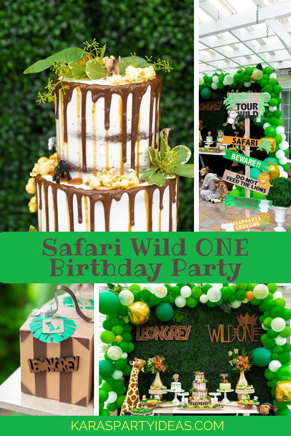 Safari Wild ONE Birthday Party via Kara's Party Ideas - KarasPartyIdeas.com