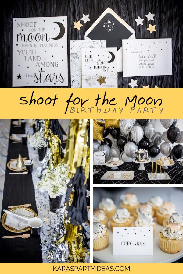 Shoot For The Moon Birthday Party via Kara's Party Ideas - KarasPartyIdeas.com