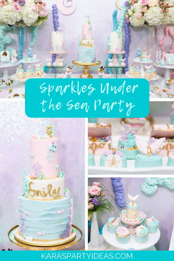 Sparkles Under The Sea Party via Kara's Party Ideas - KarasPartyIdeas.com