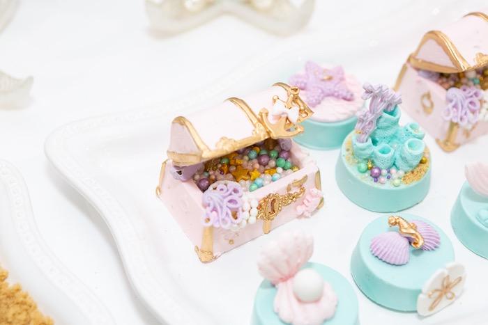 Mini Treasure Box Cake from a Sparkles Under the Sea Party on Kara's Party Ideas | KarasPartyIdeas.com (28)
