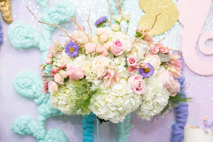 Under the Sea-inspired Blooms from a Sparkles Under the Sea Party on Kara's Party Ideas | KarasPartyIdeas.com (11)