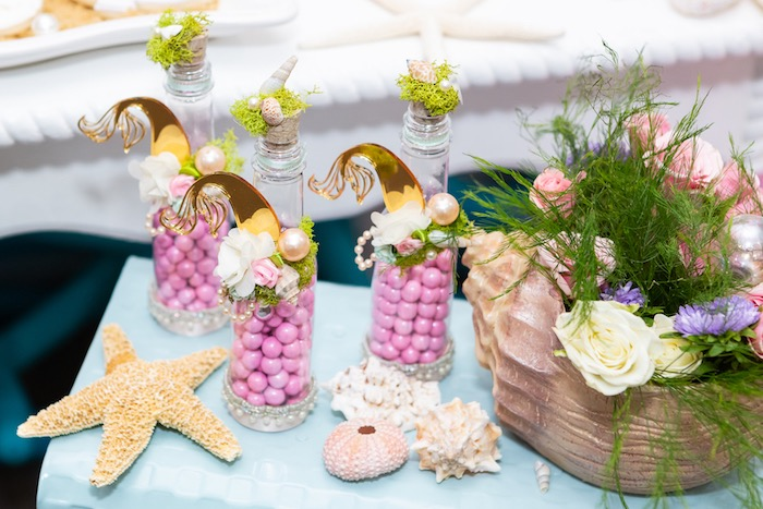 Mermaid Tail Candy Bottles from a Sparkles Under the Sea Party on Kara's Party Ideas | KarasPartyIdeas.com (9)