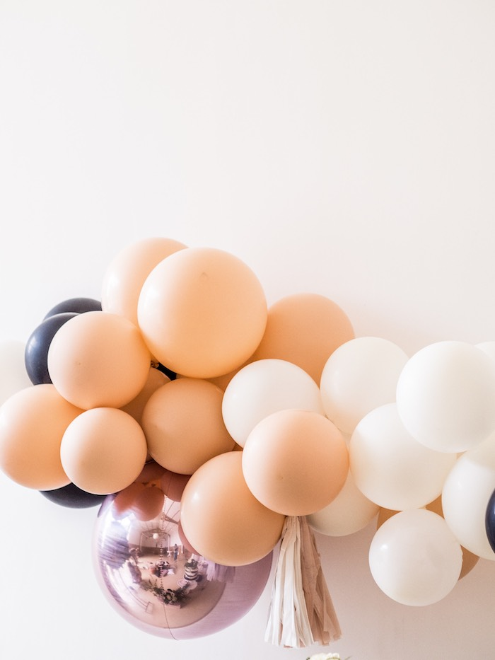 Chic Halloween Balloon Garland from a Spooky Swan Soiree on Kara's Party Ideas | KarasPartyIdeas.com (27)