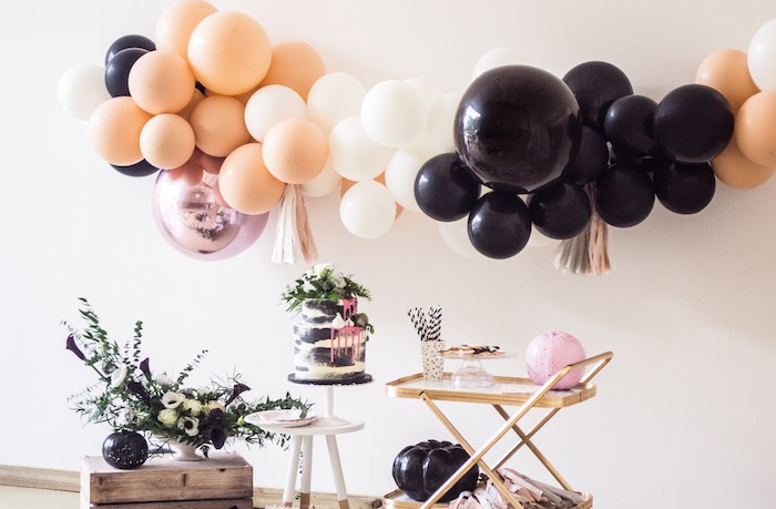 Cake Table from a Spooky Swan Soiree on Kara's Party Ideas | KarasPartyIdeas.com (39)