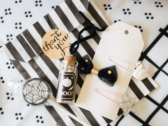 Halloween Party Favors from a Spooky Swan Soiree on Kara's Party Ideas | KarasPartyIdeas.com (10)