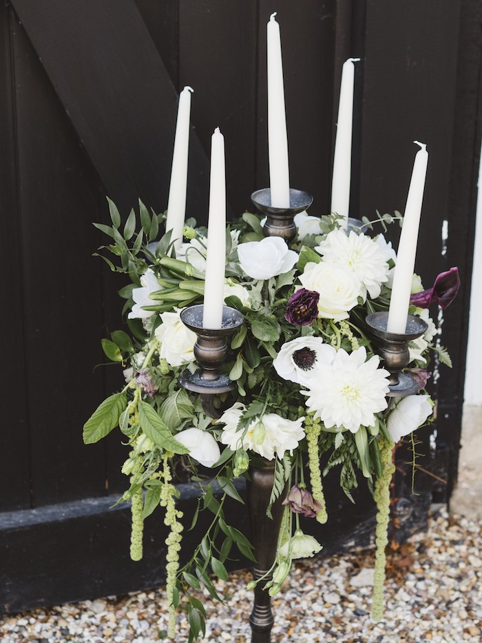 Spooky Chic Halloween Blooms from a Spooky Swan Soiree on Kara's Party Ideas | KarasPartyIdeas.com (35)