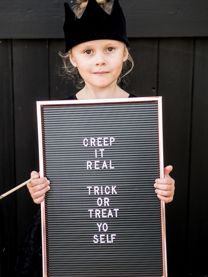 Halloween Letter Board Sign from a Spooky Swan Soiree on Kara's Party Ideas | KarasPartyIdeas.com (34)