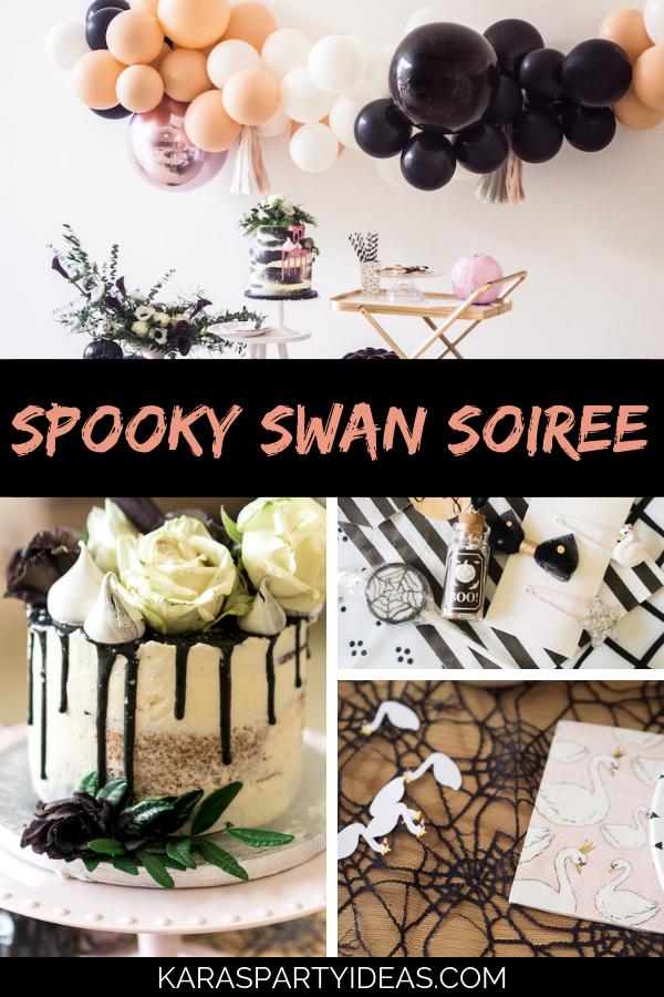 Spooky Swan Soiree via Kara's Party Ideas - KarasPartyIdeas.com