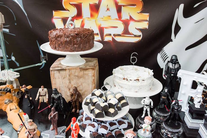 Cakescape from a Star Wars Birthday Party on Kara's Party Ideas | KarasPartyIdeas.com (18)
